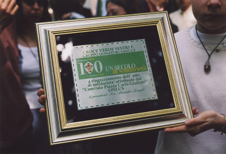 La donazione alla Croce Verde di Sestri Ponente (Genova) di un'auto medica